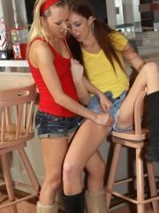 Redhead teen Maddy O'Reilly gets off with a little help from her friend