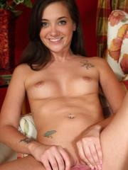 Teen hottie Gia Paige strips nude and gets off with a speculum