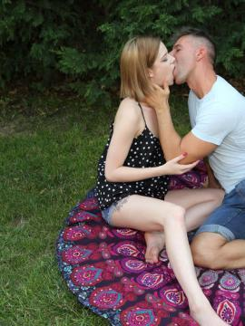 """Petite teen Lilien Ford fucking outside in """"First Time"""""""