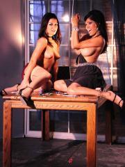 Pictures of Ann Marie Rios enjoying some lesbian action from Alexis Amore