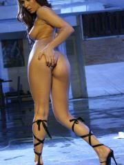 Pictures of Ann Marie Rios stripping down to her shoes