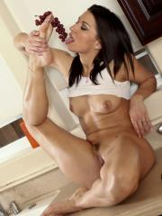 Pictures of Ann Marie Rios getting wet for you in the kitchen