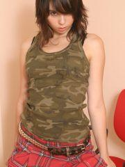 Pics of Ariel Rebel playing with herself after class