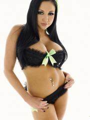 Pictures of Audrey Bitoni showing her hot body and her big breasts