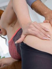 Redhead babe Isabella Lui takes a big cock up her ass