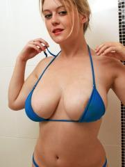 Pictures of Brooke Little getting her titties all messy in the shower