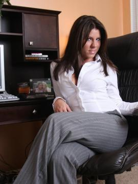 Pictures of Blueyed Cass getting naughty in the office