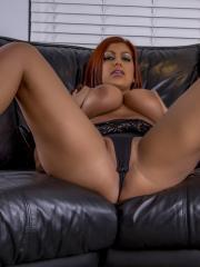 Busty hottie Briana Lee gets very horny and stuffs both holes