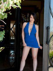 Pictures of Bryci looking delicious in a blue dress
