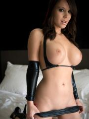 Pictures of Bryci dressed up in sexy leather just for you