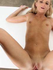Cute blonde Lyn Hoyt does what she can to prove she is right for the job