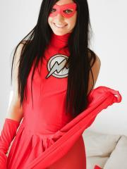Catie Minx becomes The Flash a sexy superhero for Generation XXX