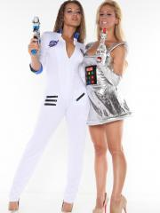 Cherie and Daniels dress up as sexy austronauts and show how well they can handle a lazer pistol