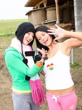 Teens get naughty in the barn