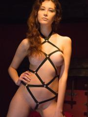 Colette presents Karina in All Tied Up