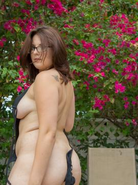 glasses Chubby girl with
