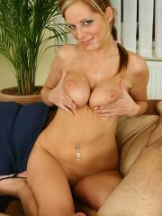 Monica Keys and her fantastic natural tits treat one lucky stud!