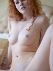 Redhead beauty Heidi shows you her nude body in Class