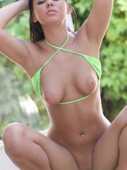 Destiny Moody flashes back to the green and sunny days of summer and tanned young bodies in skimpy bikinis