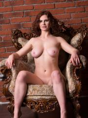 "Busty brunette Aprhodita shows you her nude body in ""Matonne"""
