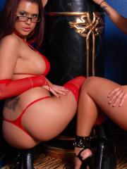 Pictures of Eva Angelina and Jenaveve Jolie giving each other their bodies for Valentine's Day