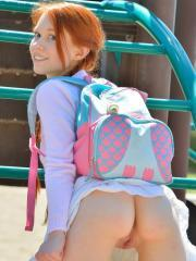 Redhead teen Dolly can't wait to masturbate after school