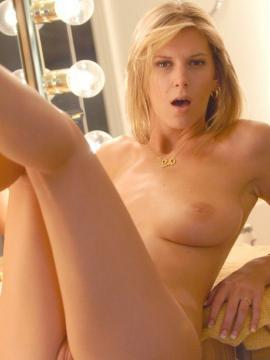 Pictures of Brooke playing with her pussy in bed