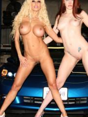 Gina Lynn and Rose Marie at a show