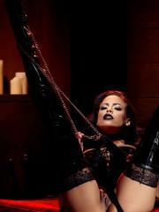 "Goth babe Luna Star is ready to whip you into shape in ""Domme"""