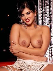 Pictures of Sunny Leone spreading her legs in a restaurant