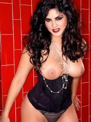 Pictures of Sunny Leone dressed up as a sexy pin-up girl