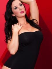 Pictures of Jayden Jaymes ready to fuck in her one-piece leotard