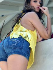 Pictures of Jenna Haze having some outdoor naughtiness