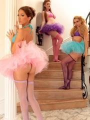 Pictures of Jenna Haze showing off her with her fellow dancers