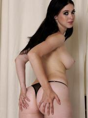Brunette hottie Betty Spark rides a hard cock in the bathroom