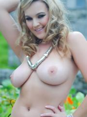 Jodie Gasson is ready to kick ass with her boobs outside