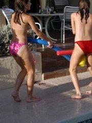 Pictures of Jordan Capri getting naughty with her girlfriends by the pool