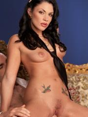 Brunette Andy San Dimas gets her pussy fucked hard
