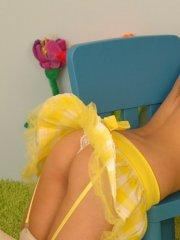Pictures of teen Kate\'s Playground looking cute in pigtails