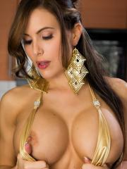 Busty babe Katie Banks invites you to party with her pussy