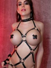 Busty hottie Katie Banks will be your personal dominatrix for the evening