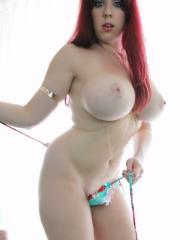 Kayla Looks Hot with her Fire Red hair, and TINY Bikini