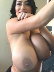 Busty babe Leanne Crow shows you her freakishly huge monster boobs