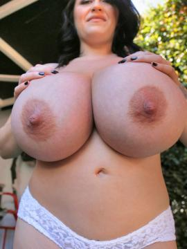 big-tits topless boobs brunette leanne-crow panties