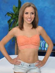 Sweet 18 year old massage therapist Natasha gives a little more than a massage!