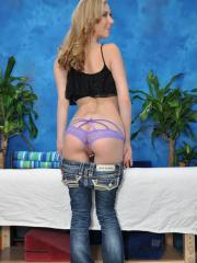 Sweet 18 year old massage therapist Tysen gives a little more than a massage!