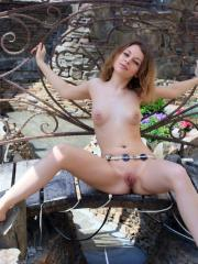 Nikia A makes a sultry impression of her beauty and gorgeous body in front of the camera