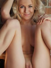 Blonde beauty Aislin shows you every inch of her nude body