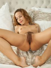 """Brunette girl Lucia D shows you her hairy pussy in """"Adirma"""""""