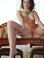 Brunette beauty Ardelia A serves you up some hot pussy